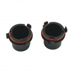 CARKING Car HID Bulb Holder Socket Adapters for Opel - Black + Red (2 PCS)