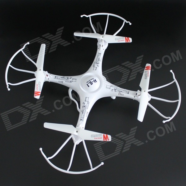 YDL-X5.1 2.4GHz 4-CH 6-Axis Gyroscope Quadrocopter - White