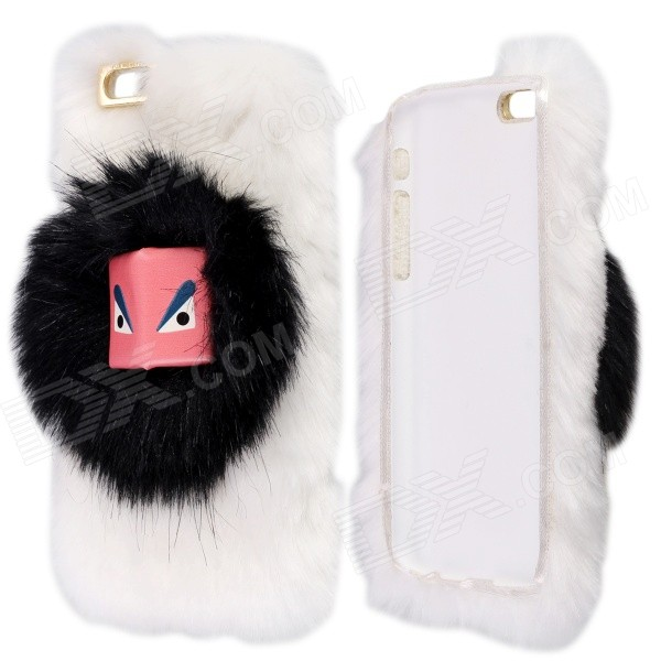 Fashion Warm 3D Furry Monster Protective PC Back Case for IPHONE 4.7 - WhitePlastic Cases<br>Covered with plush as if put on a fashion coat for your beloved phone; Fantastic and warm in touch; Protects your device from scratches bump dirt and fingerprints<br>
