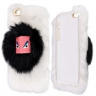 "Fashion Warm 3D Furry Monster Protective PC Back Case for IPHONE 4.7"" - White"