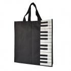 MG-173 Piano Keyboard Pattern Oxford Hand Bag - Black + White