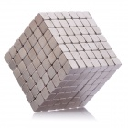 5mm Neodymium Magnet Cube DIY Puzzle Set Toy - Silver (343 PCS)