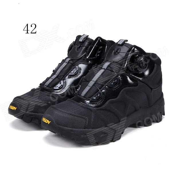 ESDY KF42-001 Men's Outdoor Hiking Climbing Anti-Slip Tactical Boots Shoes - Black (42)