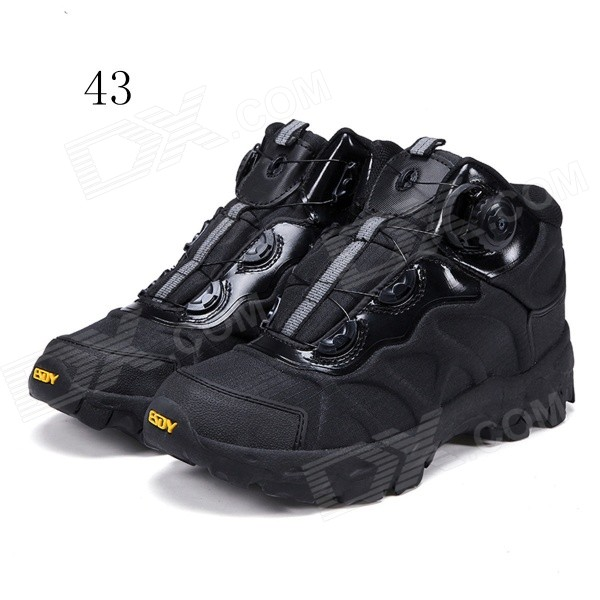 ESDY KF43-001 Men's Outdoor Hiking Climbing Anti-Slip Tactical Boots Shoes - Black (43)