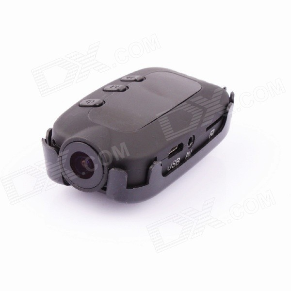 PANNOVO Full HD 12.0MP 1080P 1/2.7 CMOS FPV Camera Car Camcorder - Black fossil sydney patchwork zip clutch