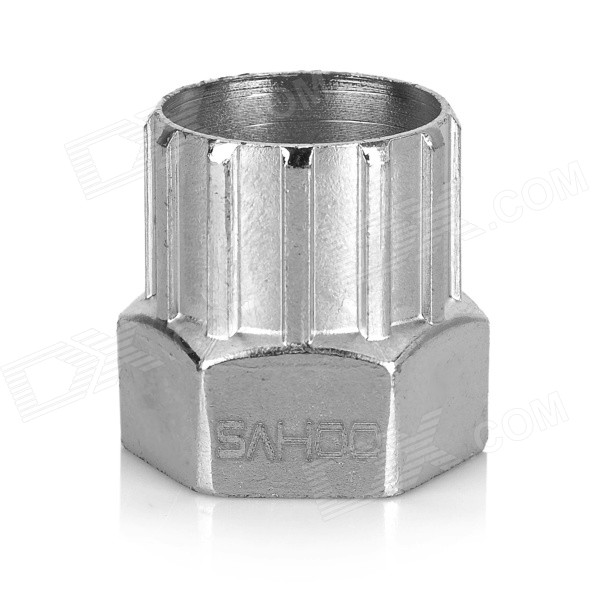 SAHOO Screw Type Flywheel Dismantle Sleeve Socket Tool for Bicycle - Silver