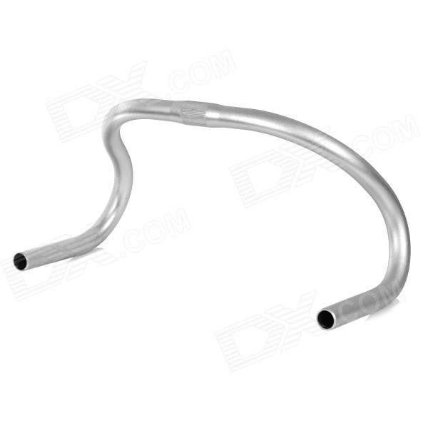 25.4 Aluminum Alloy Bike Bicycle Goat Horn Track Drop Bar Handlebar for Fixed Gear - Silver cycling bike bicycle handlebar tape belt wrap w bar plug yellow camouflage 2 pcs