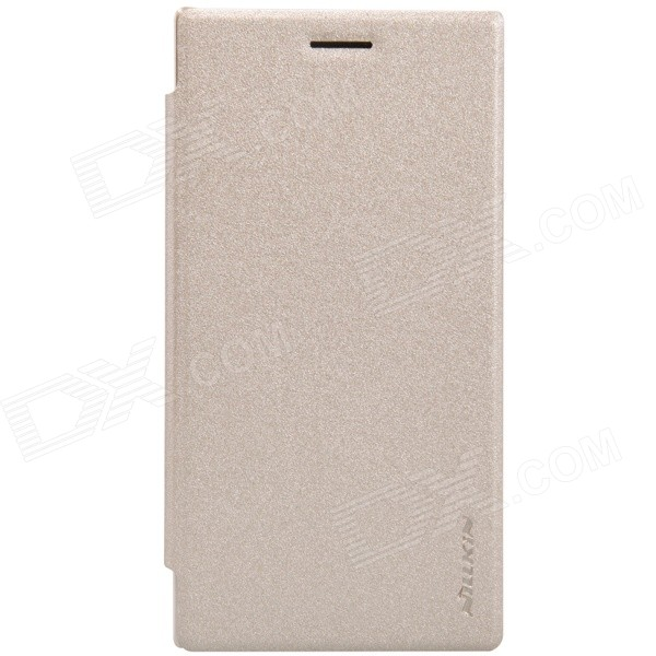 NILLKIN Protective PU Leather + PC Flip Open Case for Nokia Lumia 830 - Golden nillkin protective pu leather pc flip open case for nokia lumia 535 white