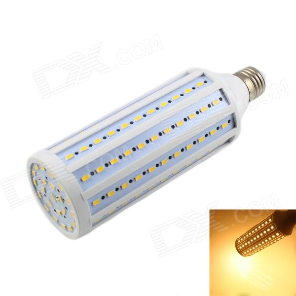 KINFIRE E27 40W 2400lm 3000K 132-5730 SMD LED Warm White Light Corn Lamp - White (AC 220V)