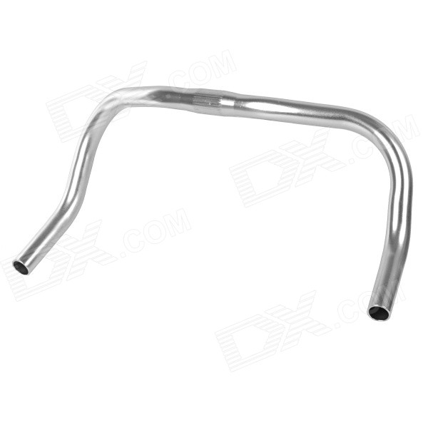 25.4 Aluminum Alloy Bicycle Bull Horn Bullhorn Handlebar for Fixed Gear / Track Bike - Silver