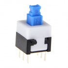 8 x 8mm Double Line Self-lock 6-leg Button Switches - White + Blue + Black (20 PCS)