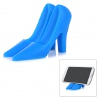 Fashionable High-Heeled Shoes Style Mini Universal Desktop Stand Holder for Mobile Phone - Blue