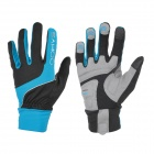 SAHOO 42890 Unisex Cycling Anti-Skid Full Fingers Touch Screen Gloves - Black + Blue (XXL / Pair)