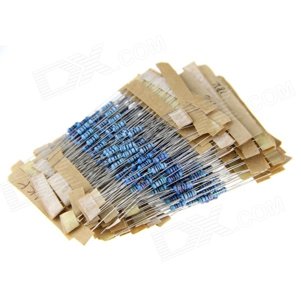 DIY 1/4W Colored Ring Carbon Film Resistors Set - Blue (40 x 10PCS)