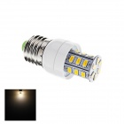 E27 4W LED Warm White Light Corn Lamp - White + Silver (AC 220V)