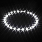 Merdia 1W 100lm 6000K 27-SMD 3528 LED White Light Car Angel Eye Lumière de décoration (100 mm de diamètre)