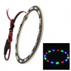 Merdia 1W 100lm 30-SMD 3528 LED Flashing 3-Color Angel Eye Car Decoration Light (100mm Diameter)