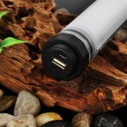 Portable Water Resistant 42-LED Emergency Outdoor Lantern / 5200mAh Power Bank - Black + Transparent