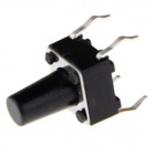 6 x 6 x 9 mm ligeiramente Touch Button Tact Switches - Preto (20 PCS)