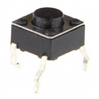 6 x 6 x 8mm Slightly Touch Button Tact Switches - Black (20 PCS)