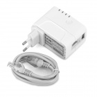 UNT-01 300Mbps Wireless-N Wi-Fi Repeater w / USB 2A carregamento Interface - Branco (Plug UE)