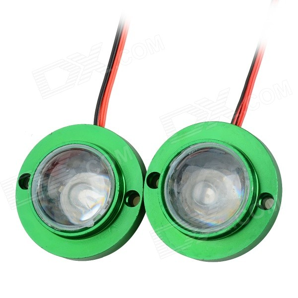 Universal 6W 20lm 532nm 2-LED Green Light Motorcycle Stoplights Brake Lamps - Green (DC 12V / 2 PCS) cyan soil bay amber 48 led car truck roof top emergency hazard warning strobe flash light lamp