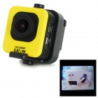 "SJCAM M10 1.5"" LCD 12.0MP 2/3"" CMOS 1080P Wide Angle Full HD Outdoor Sports DV Camera - Yellow"