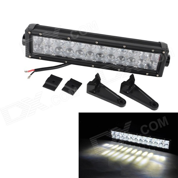 MZ 72W 6120lm 6000K White Flood + Spot Beam LED Worklight Bar Off-road 4WD UTV Driving Lamp w/ Lens foxstar 36w led work light offroad 4x4 off road light bar for atv suv truck boat spot flood combo beam 2880lm universal
