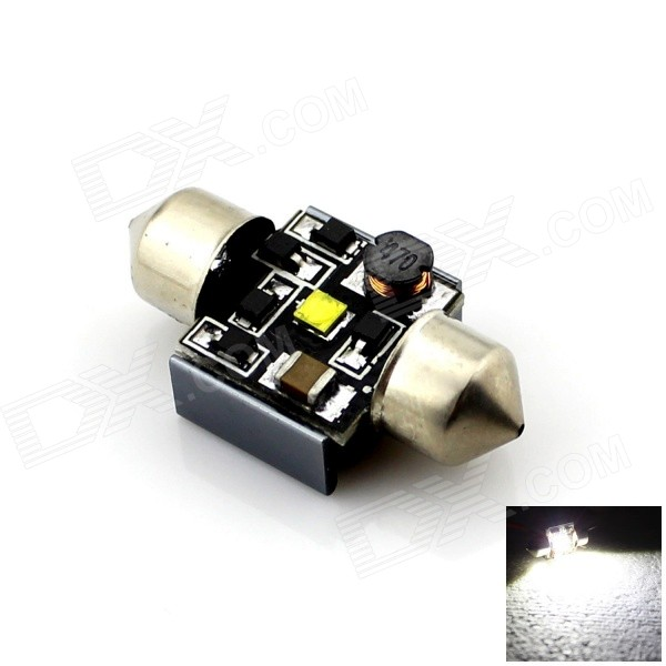 Festoon 31mm 3W 200lm White Light Dome License Plate Lampe