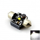 Festoon 31mm 3W 200lm 6000K White Light LED Dome License Plate Bulb Lamp for Car (DC 12V~16V)