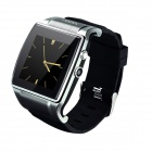 "GUMBO-008 GSM Smart Watch Phone w/ 1.54"" Capacitive Touch Screen, BT, FM, Quad-band - Black + Silver"
