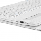 "Removível Bluetooth v3.0 64-Key Keyboard w / PU caso para Google Nexus 9 8.9"" - Branco"