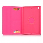 Protective PU Leather Smart Case w/ 2-Mode Stand for IPAD MINI 1 / 2 / 3 - Deep Pink