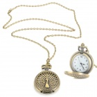 Casual Round Style Analog Quartz Pocket Watch - Antique Bronze (1 x CR1022)
