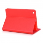 Protective PU Leather Smart Case w/ 2-Mode Stand for IPAD MINI 1 / 2 / 3 - Red