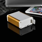 Universal Mobile 2500mAh Power Bank w/ 15-LED 2-Mode White Flashlight - Gold + White