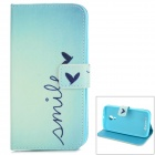 Fashion Protective Flip Open PU Leather Case w/ Stand / Card Slots for MOTO G2 - Light Blue