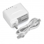 UNT-01 300Mbps Wireless-N Wi-Fi Repeater w/ 2A USB Charging Interface - White (US Plugs)