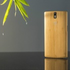 Retro Style Protective Bamboo Back Case for Oneplus One - Yellow