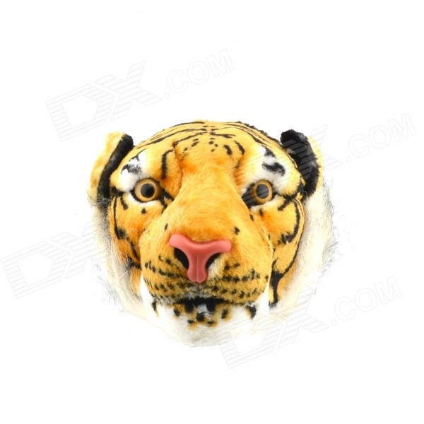 Emulational Tiger Head Style Waist Bag - Yellow + White