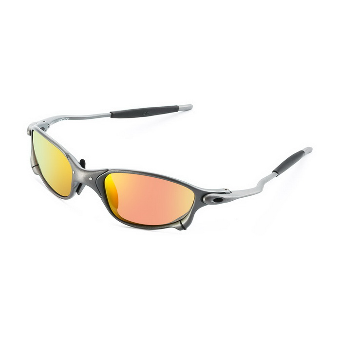 Stylish UV400 Protection Resin Lens Polarized Sports Cycling Sunglasses - Gun Color + Red REVO