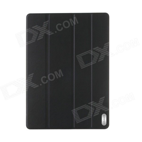 USAMS Protective PU Leather + PC Case w/ Stand / Auto Sleep for IPAD AIR 2 - Black  цена