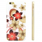 Flowers Pattern Protective TPU Back Case for IPHONE 6 - White + Red + Multi-Color