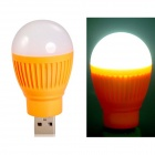 0.8W 400lm 4 x 5730 LED Super Bright White Light USB Powered Mini LED Night Lamp - Orange