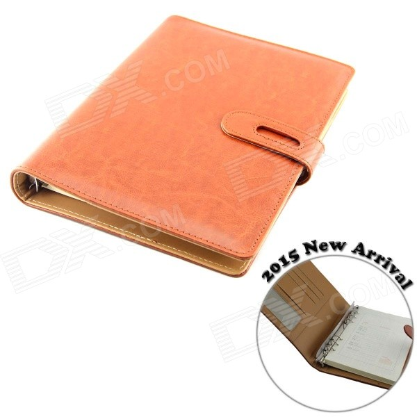 SD85-65C Top Grade 100-Page Fine Sheepskin A5 Paper Parchment Notebook - Brown 140 page note paper creative fruit design