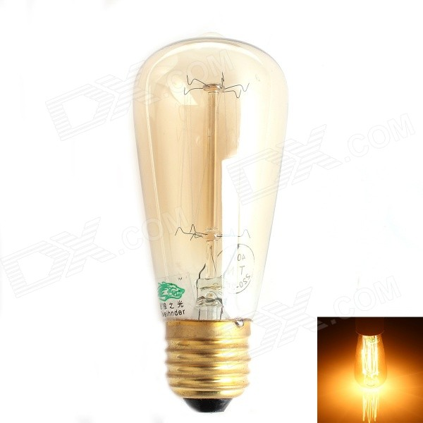 Zweihnder E27 40W 500lm Incandescent Tungsten Filament Warm White Light Candle Lamp (AC 220-240V)