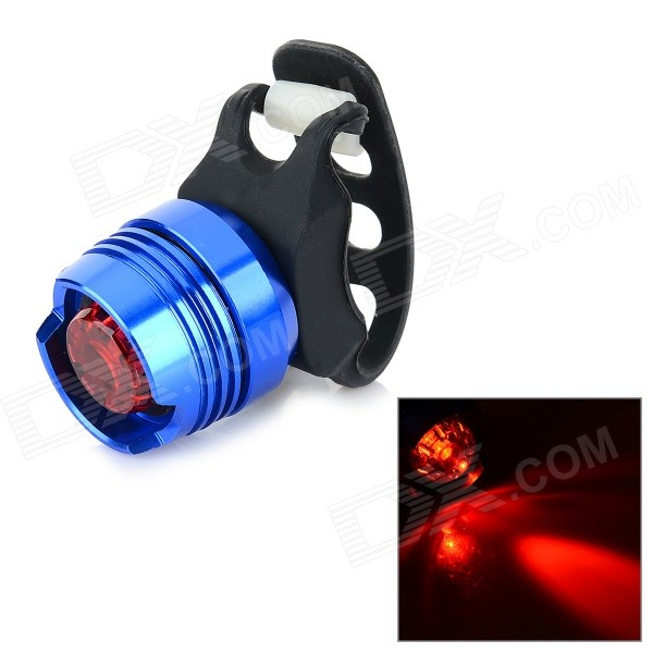 30lm 3-Mode Red Light Bike Taillight Warning Light - Blue + Black