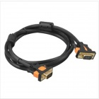Yellow Knife YK44 Male to Male VGA Computer Connection Copper Wire Cable - Orange + Black (3m)