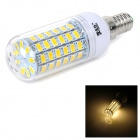 JR-LED E14 10W 700LM 3300K 5730 SMD LED Warm White Light Bulb - White + Multicolor (AC 220~240V)