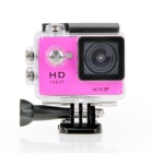 "EOSCN W7 HD 1080P Waterproof 2/3"" CMOS 12MP Sports Camera - Rose Red"